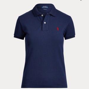 Ralph Lauren Classic Fit Mesh Polo Shirt in Navy.